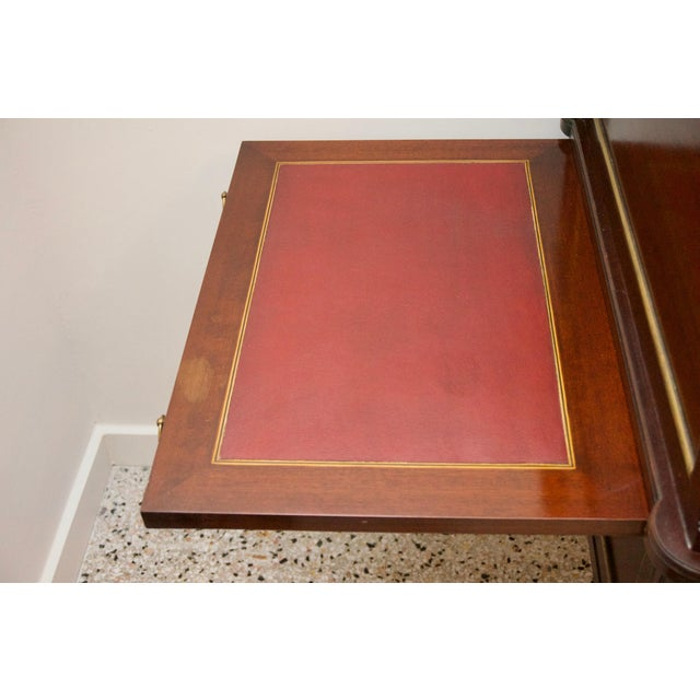 French French Directiore Style Mahogany Roll Top Desk For Sale - Image 3 of 13