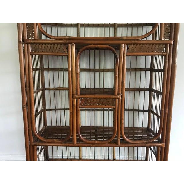 Vintage Bamboo Étagère Bookshelf For Sale - Image 4 of 8