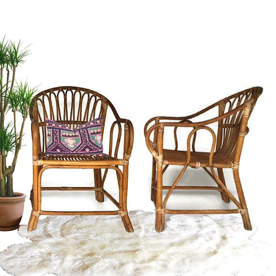 Mid Century Modern Bamboo Chairs Sculpted Bent Bamboo Franco Albini Style - a Pair For Sale In Richmond - Image 6 of 11