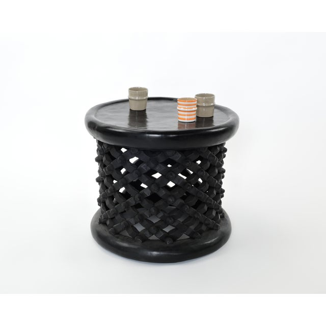 Late 20th Century Bami Spider Table Hand Carved Solid African Hardwood From Camaroon Small Size