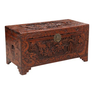 Antique Chinese Accent Box For Sale