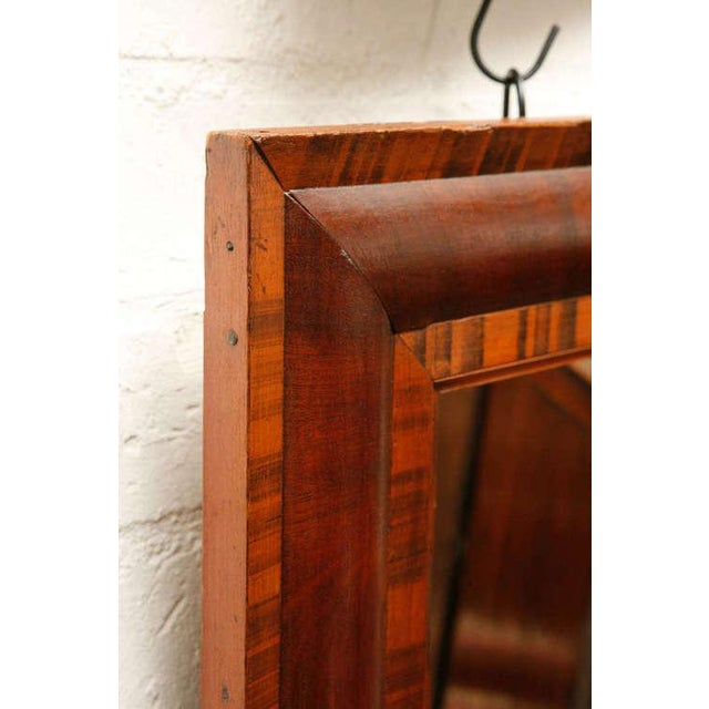 This beautiful mahogany and pine frame mirror is a great example of federal period design techniques with it's geometric...