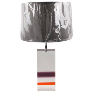 1970s Modernist Multi-Colored Lucite Table Lamp For Sale