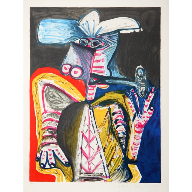"Pablo Picasso, ""Personnage a La Pipe,"" Lithograph For Sale"