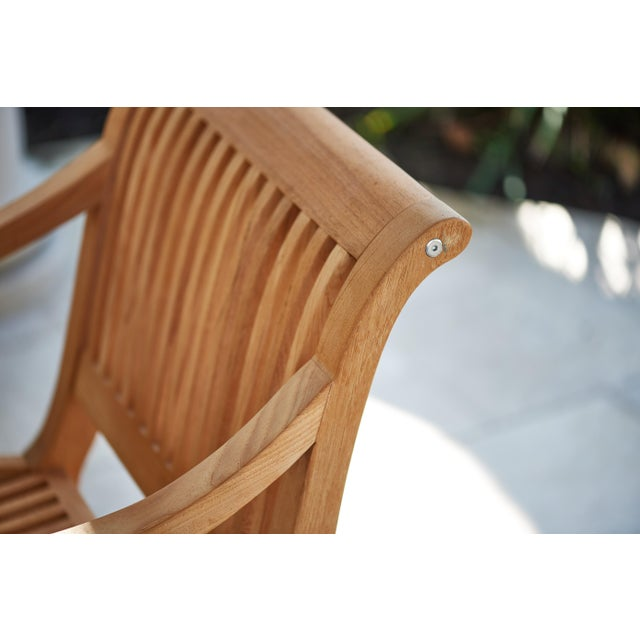 Palm Teak Outdoor Armchair For Sale In Los Angeles - Image 6 of 10