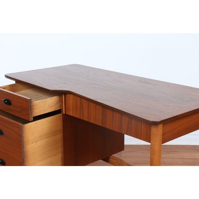 Hooker Mid-Century Walnut & Veneer Desk - Image 6 of 11