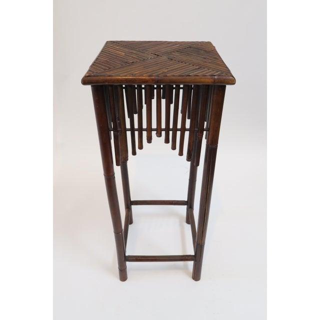 Dark Brown Bamboo Pedestal - Image 2 of 7