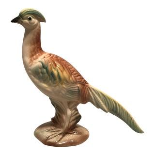 Mid Century Glazed Ceramic Pheasant Figurine