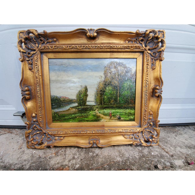 Vintage Mid-Century L. Stephano Oil on Canvas Landscape Painting For Sale In Houston - Image 6 of 7