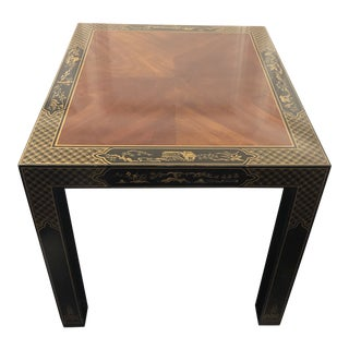 Chinoiserie Drexel Heritage Et Cetera Lacquered Side Table For Sale