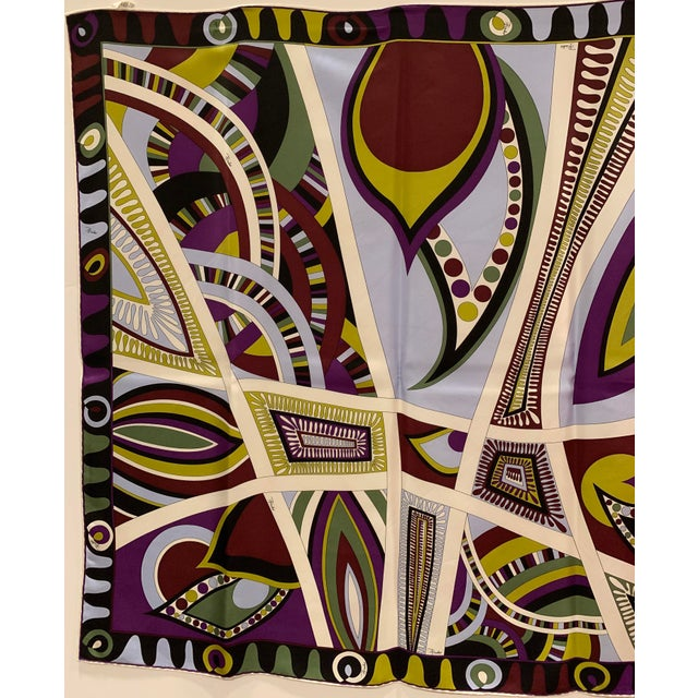 Emilio Pucci Pucci Classic Psychedelic Silk Scarf For Sale - Image 4 of 6