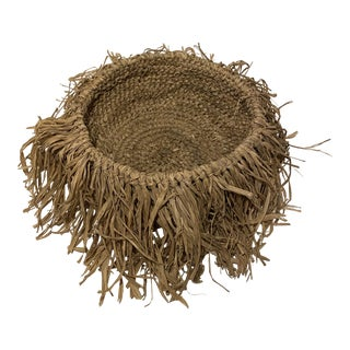 Woven Palm Basket Bowl For Sale