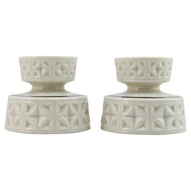 Lenox Silver Anniversary Candleholders - A Pair - Image 2 of 5