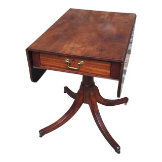 19th Century English Regency Drop Leaf Center Table For Sale