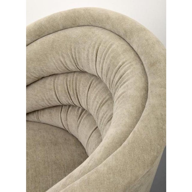 Pair of Kagan Crescent Swivel Lounge Chairs, Usa, 1969 For Sale In Miami - Image 6 of 7