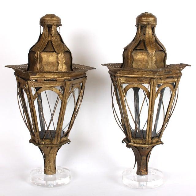Italian Pair of 19th Century Italian Processional Lanterns For Sale - Image 3 of 11