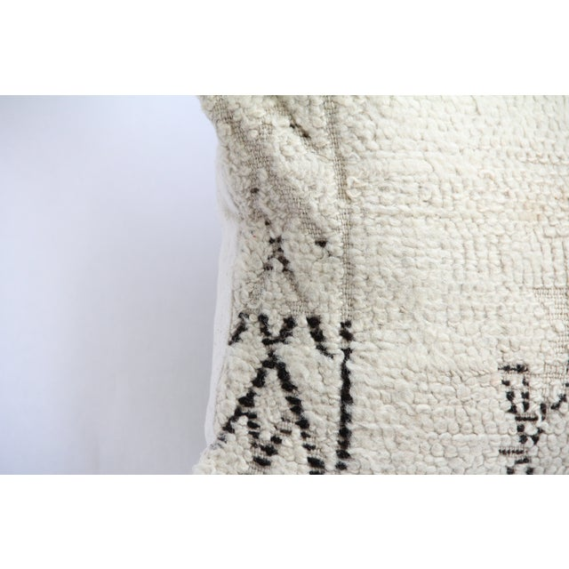 Moroccan Vintage Beni Ourain Pillow - Image 3 of 6