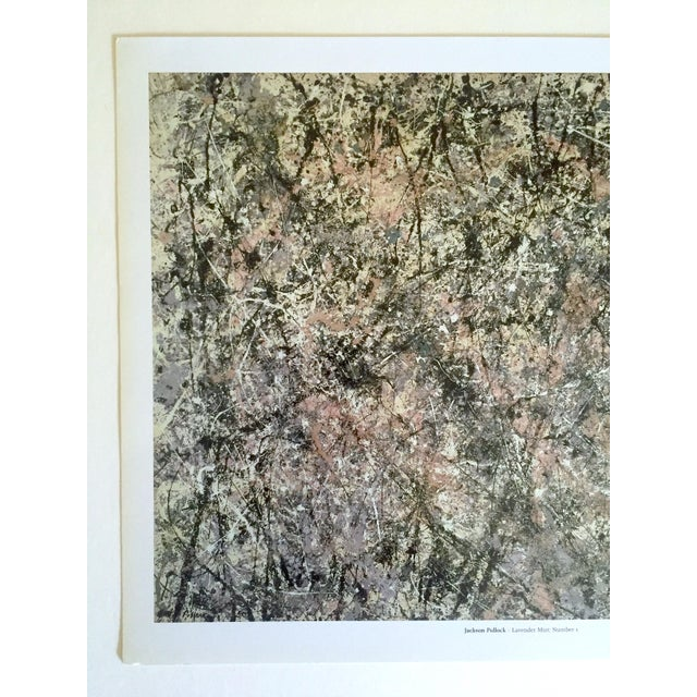 """This Jackson Pollock Foundation Abstract Expressionist collector's offset lithograph print """" Lavender Mist : Number 1 """"..."""