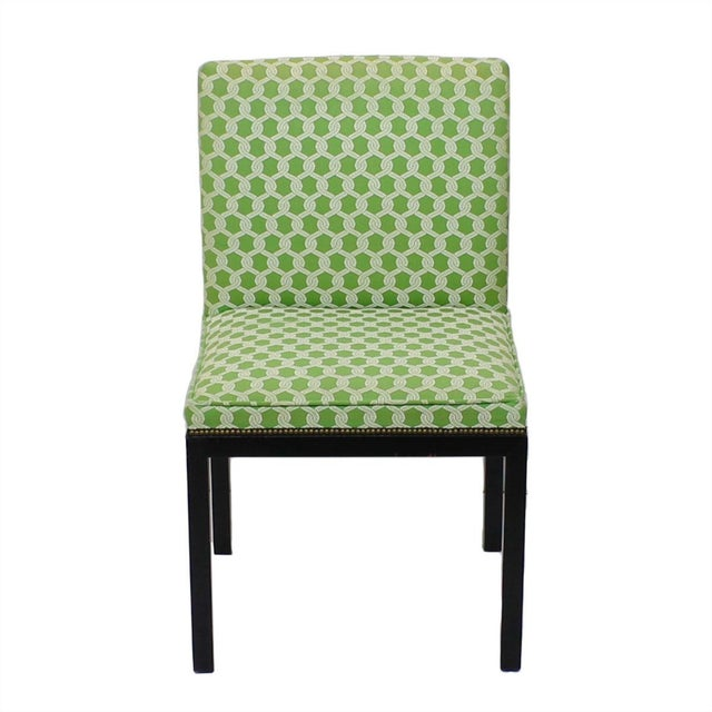 Green Accent Chairs - A Pair - Image 3 of 7