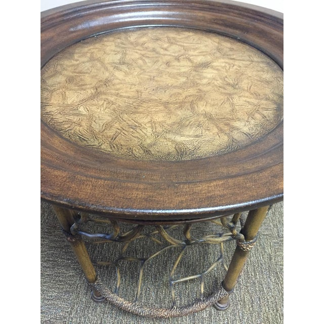 Wooden Round End Table - Image 6 of 8