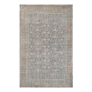 Mid-19th Century Handwoven Wool Khotan Rug For Sale