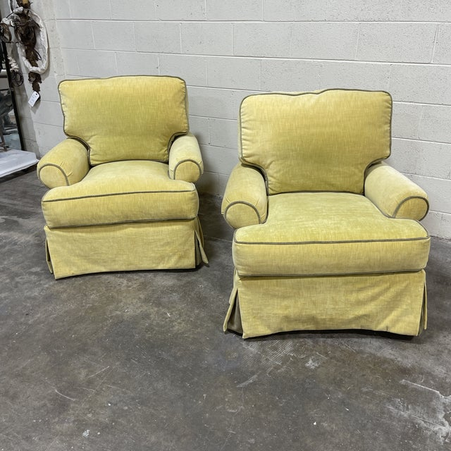 If you know Lee Industries, you know the quality of these chairs. Near perfect condition, they were barely used. Cushions...