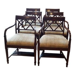 Bausman Walnut Dining Room Chairs - Set of 6