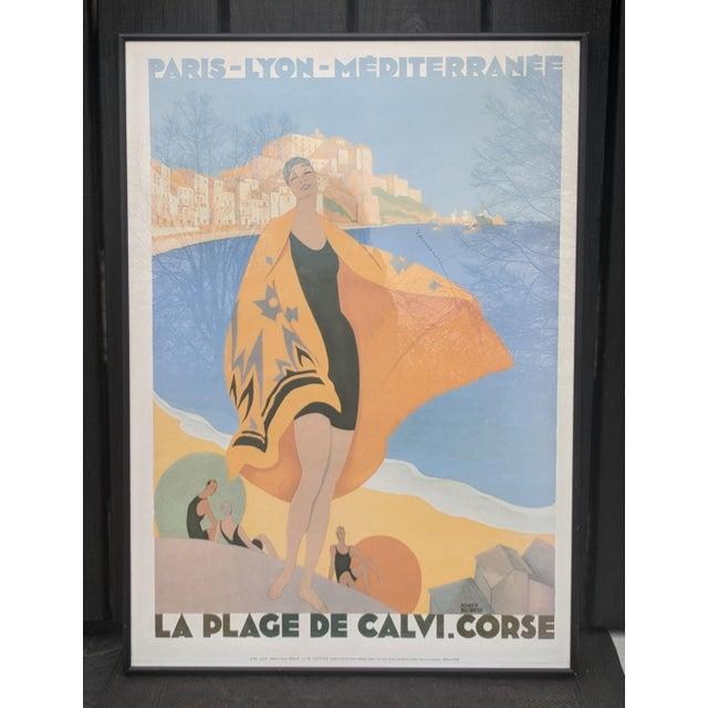 Glass Vintage French Advertisement Illustration by Roger Broders Framed For Sale - Image 7 of 9