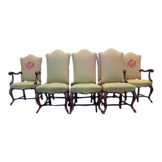 Armless Dining Room Chairs & Arm Dining Room Chairs - Set of 8 For Sale
