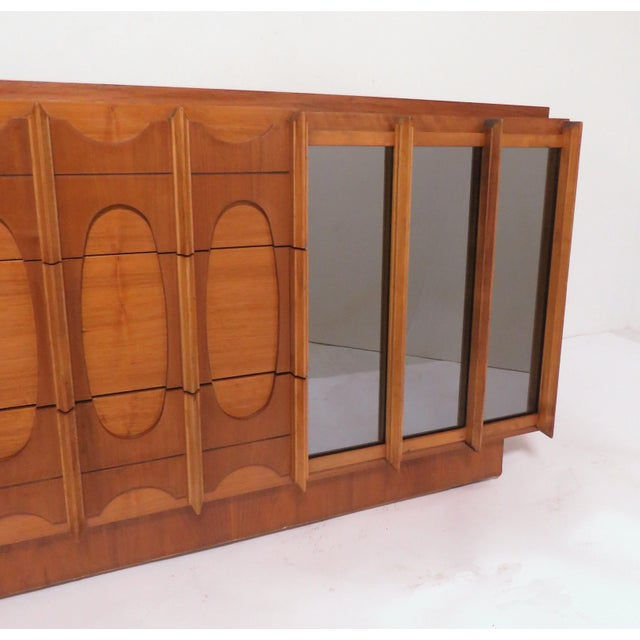 Brutalist Mid Century 9 Drawer Credenza / Dresser by Tabago For Sale In Boston - Image 6 of 10
