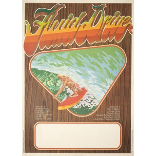 """Fluid Drive"" 1974 Surfing Film Poster"