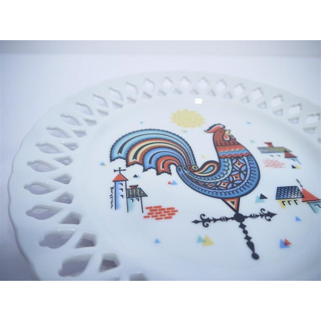 Berggren Mid-Century Rooster Plate For Sale - Image 4 of 6