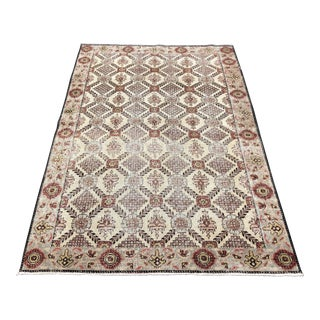 "Antique Persian Sultanabad Rug - 4'3"" x 6'3"""