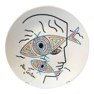 Vintage Mid Century Jean Cocteau Editions d'Art Signed Plate For Sale