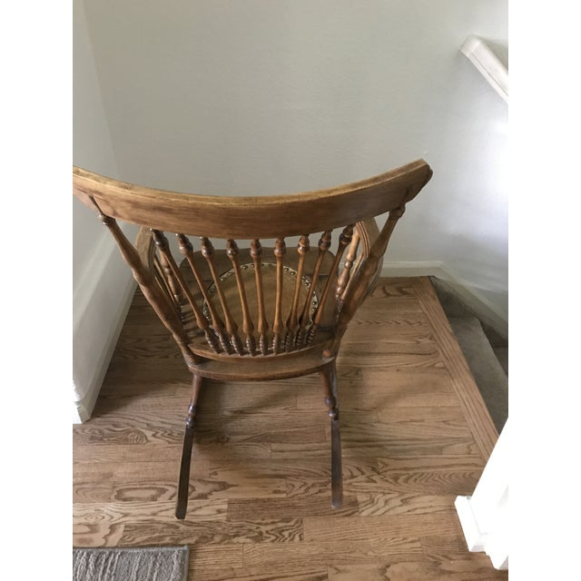 Rustic Antique Rustic Rocking Chair For Sale - Image 3 of 6