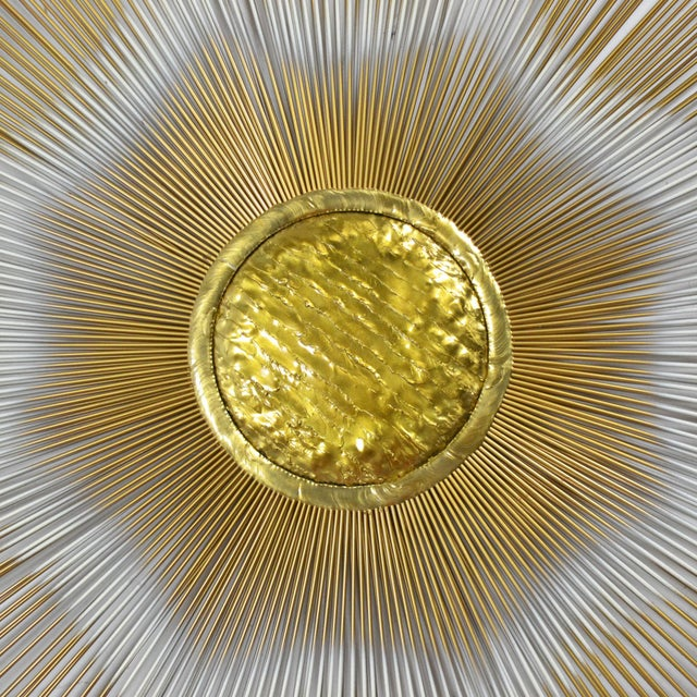 Mid-Century Modern Sunburst Wall Sculpture by Casa Devall For Sale - Image 3 of 9