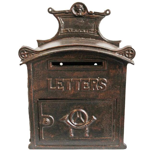 Antique Iron Mail Box - Image 1 of 5