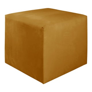 Monaco Citronella Cube Ottoman For Sale