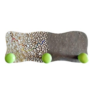 Modern Pebble Mosaic Wall Coat Rack For Sale
