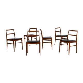 1960s Vintage Arne Vodder Dining Chairs for Sibast - Set of 6 For Sale