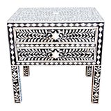 Image of Indian Bone Inlaid Nightstand For Sale