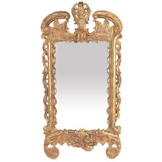 Period George III Pier Glass With Carved and Gilded Frame For Sale