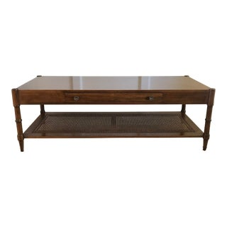 1920s Cherry, Cane, and Bamboo Coffee Table by John Widdicomb For Sale
