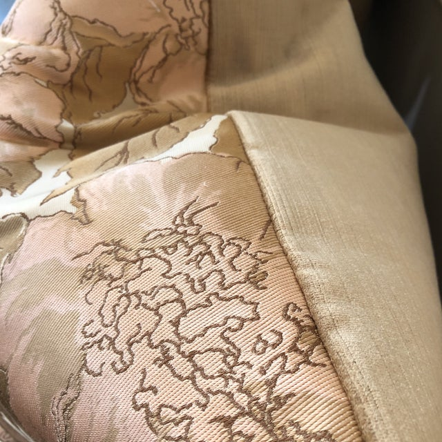 Custom Silk Floral Pillows - A Pair - Image 3 of 5