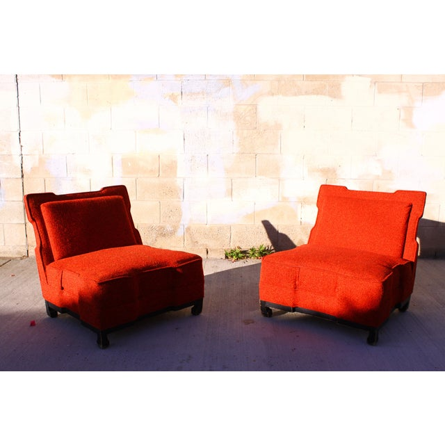Rare James Mont Slipper Chairs - A Pair - Image 4 of 11