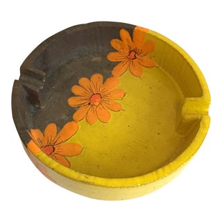 Italian Mid Century Pottery Ashtray For Sale