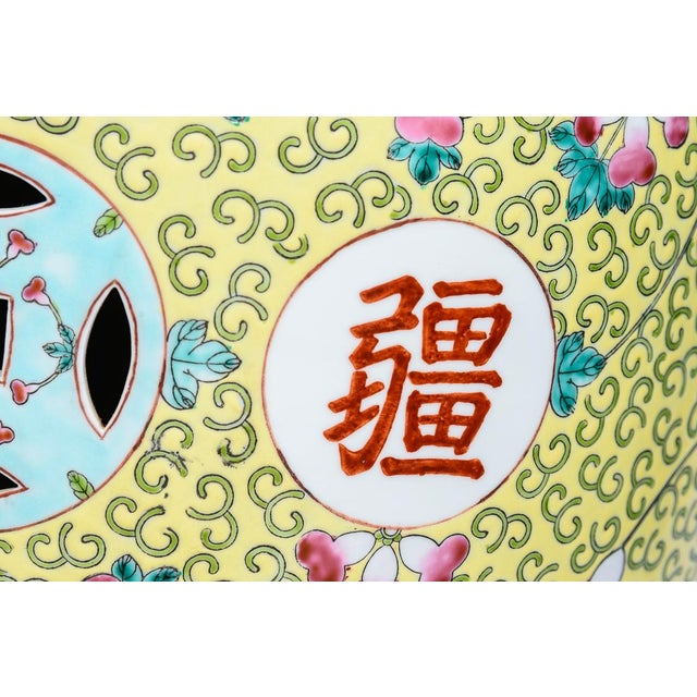 Chinese Famille Rose Garden Stools - a Pair For Sale - Image 10 of 12