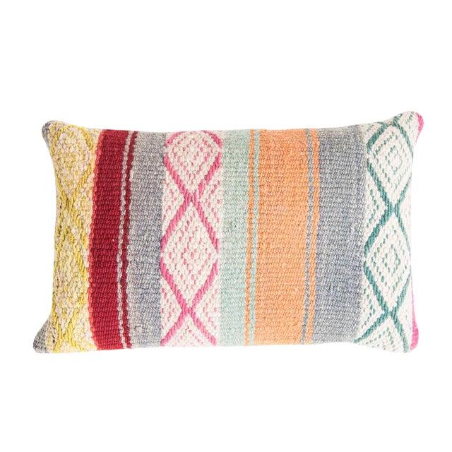 Pastel Peruvian Frazada Pillow - Image 1 of 4