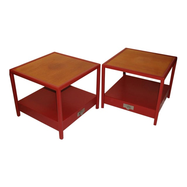 Michael Taylor for Baker Side Tables - a Pair For Sale