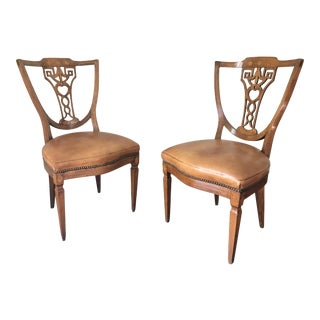 19th Century Demi Lune Chairs - A Pair